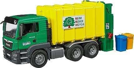 Bruder Man Tgs Rear Loading Garbage Green/Yellow Vehicle