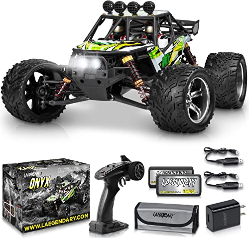 popular 1:12 Scale Large RC discount Cars 36+ kmh Speed - Boys wholesale Remote Control Car 2WD Off Road Monster Truck Electric - All Terrain Waterproof Toys Trucks for Kids and Adults - 2 Batteries + Connector for 35+ Min Play sale