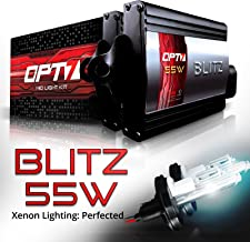 OPT7 BLTZ 55W H4 9003 Hi-Lo HID Kit - 3X Brighter - 4X Longer Life - All Bulb Sizes and Colors - 2 Yr Warranty [5000K Bright White Xenon Light]