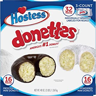 Hostess Mini Powered Donettes and Frosted Chocolate Mini Donettes (1.5 oz., 32 ct.)