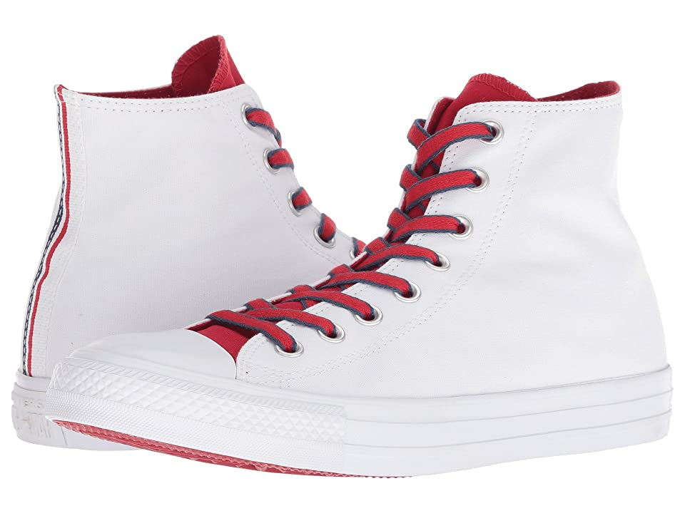Converse Chuck Taylor(r) All Star(r) Hi Court Prep Block (White/Gym Red/Navy) Classic Shoes