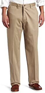 Men's No-Iron Relaxed-Fit Flat-Front Pant