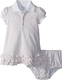 Ralph Lauren Baby - Floral Polo Dress & Bloomer (Infant)