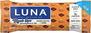 LUNA BAR - Mashups - Gluten Free Snack Bars - Peanut Butter Fudge - 8g of protein - Non-GMO - Plant-Based Wholesome Snacki...