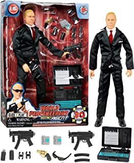 """Click N' Play Secret Service with Suit 12"""" Inch Action Figure Play Set with Accessories."""