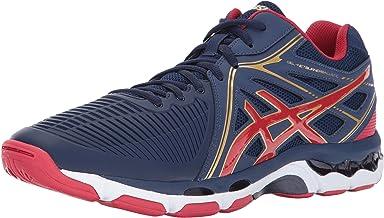 ASICS - Mens Gel-Netburner Ballistic Mt Shoes, 7 UK, Indigo Blue/Prime Red/Rich Gold