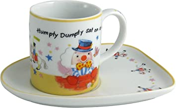 2 Piece Rhyme Humpty Dumpty Milk Cup and Tray Set