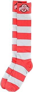 NCAA Ohio State Buckeyes Gray and Scarlet Stripe Dress Socks