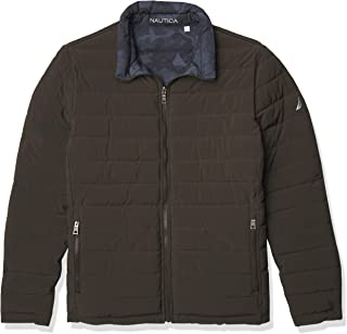 Men's Reversible Midweight Puffer Jacket, Wind and Water Resistant