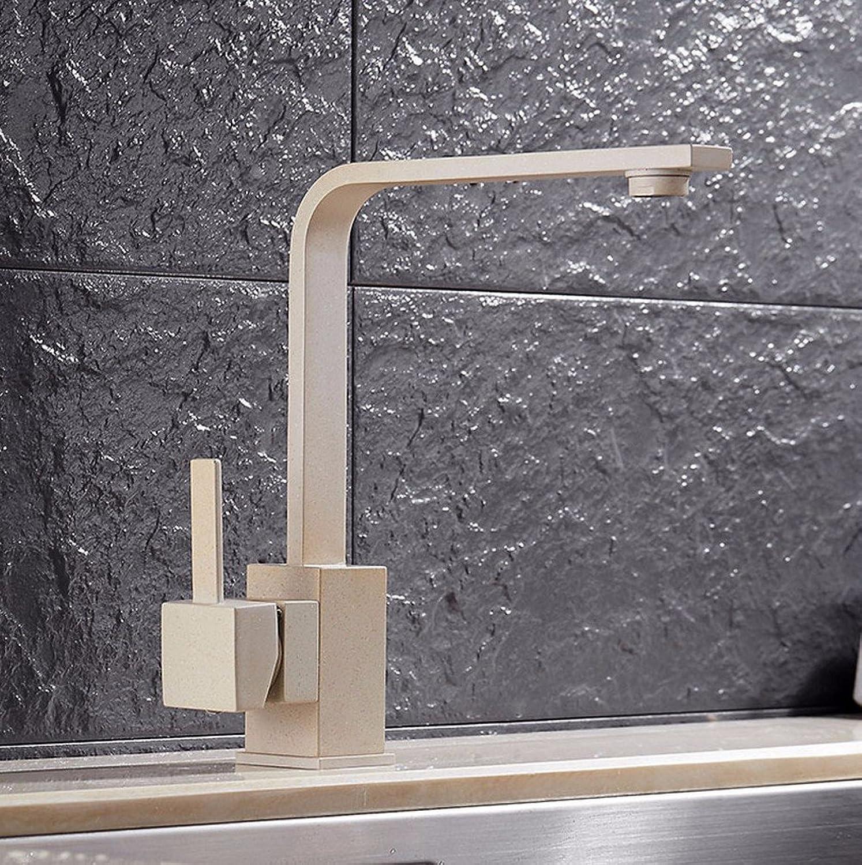 Gyps Faucet Waschtisch-Einhebelmischer Waschtischarmatur BadarmaturWarme und kalte Küche Quartz Stone Spüle Wasserhahn 360°-Drehung Hafer Farbmixer Hahn Tippen,Mischbatterie Waschbecken
