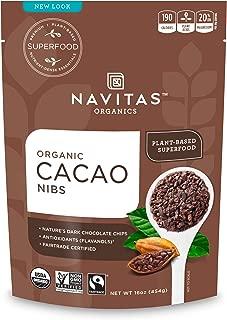 Navitas Organics Raw Cacao Nibs, 16oz. Bag - Organic, Non-GMO, Fair Trade, Gluten-Free
