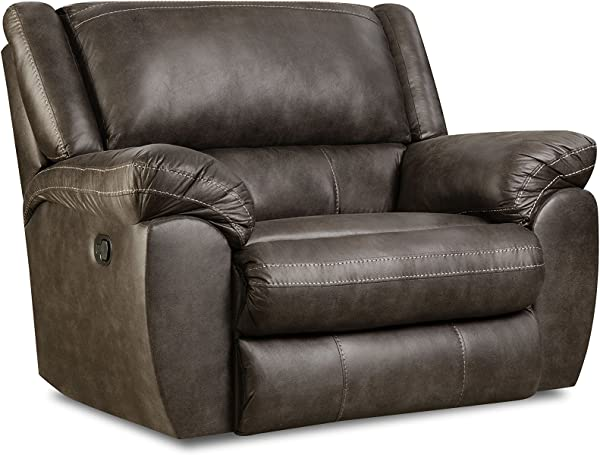 Simmons Upholstery 50433BR 19 Shiloh Granite 3 Way Rocker Recliner