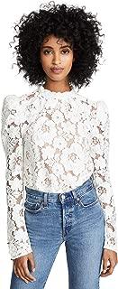 Women's Erika Puff Sleeve Lace Top