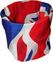 Wavy USA Union Jack British Flag Multi Function Microfiber Headband Face Mask Headwrap