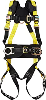 Guardian Fall Protection 11177 Nanotech Barrier Web Seraph Construction Harness with Side D-Rings and Tongue Buckle Leg Straps
