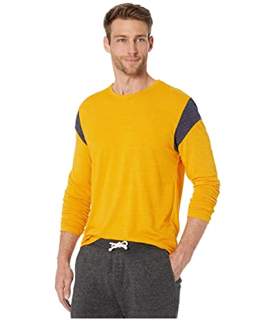 Alternative Long Sleeve Shoulder Stripe Tee (Eco Stay Gold/Eco True Midnight) Men