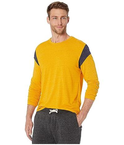 Alternative Long Sleeve Shoulder Stripe Tee (Eco Stay Gold/Eco True Midnight) Men