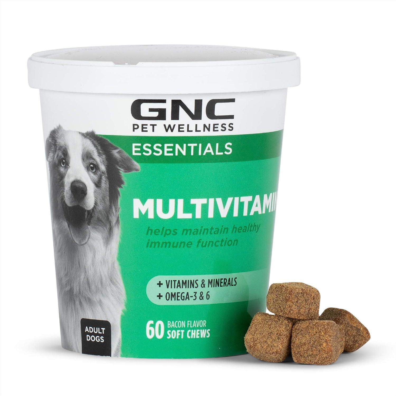 GNC for Pets Essentials Dog Multivitamin Soft Chews   60 ct Salmon Oil Dog Supplement Immune Booster   Chicken Flavor Chewable Dog Multivitamin with Vitamins and Minerals