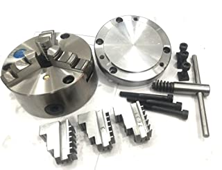 125 mm Self Centering Chuck +Reversible Jaws+ Back Plate (MT2 Spigot)-Fits HV6 Rotary Table