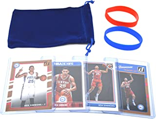 Ben Simmons Basketball Cards Assorted (4) Bundle 1 Rookie Card Per Pack - Philadelphia 76ers Trading Cards