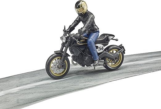 Bruder Ersatzteil Figur Biker Motorradfahrer mit Helm für 63050 Ducati 46160