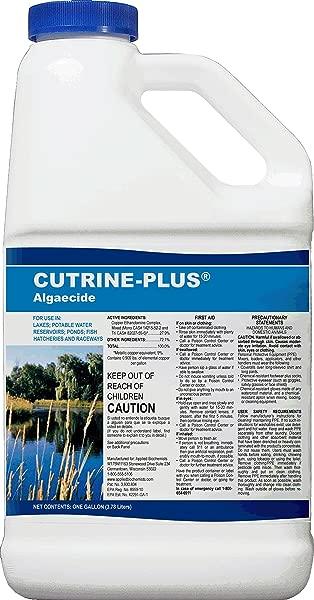 Cutrine Plus 38005901015 76513 Professional Strength Aquatic Algaecide 1 Gallon Blue