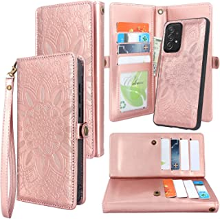 Harryshell Detachable Magnetic 12 Card Slots Holder Wallet Case PU Leather Flip Protective Cover with Wrist Strap Kickstan...