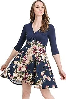 Hello MIZ Women's Floral Maternity Mini Dress