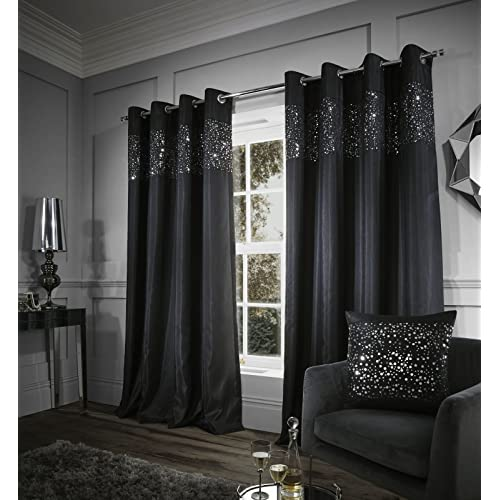 Black and White Curtains for Living Room: Amazon.co.uk