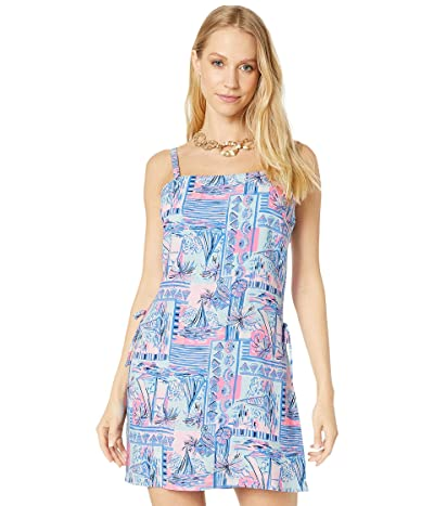 Lilly Pulitzer Sahar Romper (Whisper Blue Yeah Buoy) Women