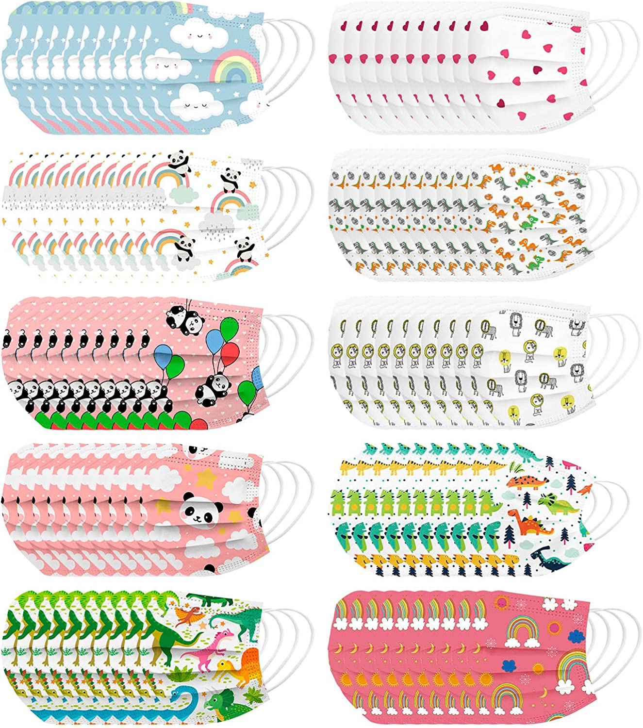 Year-end Max 67% OFF annual account 100 Pack Disposable Kids Face_Masks- Full Protection Face Face_M