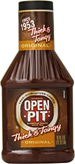 Open Pit Thick & Tangy Barbecue Sauce, Original, 18 Ounce (Pack of 12)