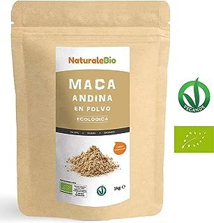 Maca Andina Ecológica en Polvo [ Gelatinizada ] 1 kg | Organic Maca Powder Gelatinized. 100% Peruana, Bio y Pura, viene de raíz de Maca Organica. Superfood rico en aminoácidos, fibras, vitaminas.