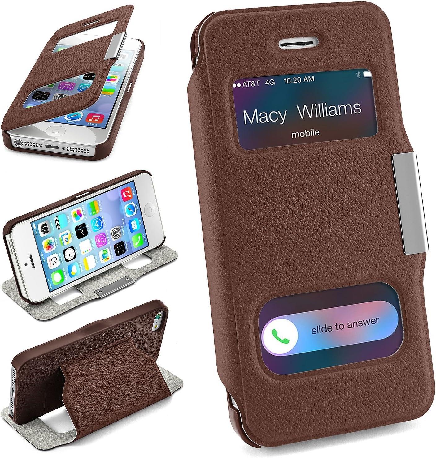 MoEx Bolso OneFlow para Funda iPhone 5 / 5S / SE Cubierta con Ventana   Estuche Flip Case Funda móvil Plegable   Bolso móvil Funda Protectora ...