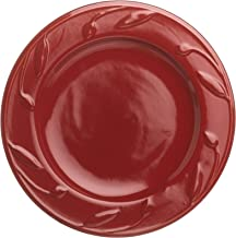 Signature Housewares Sorrento Collection 8-Inch Round Salad Plate, Ruby Antiqued Finish