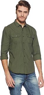 Amazon Brand - Symbol Men's Slim Fit Full Sleeve Cotton Casual Shirt