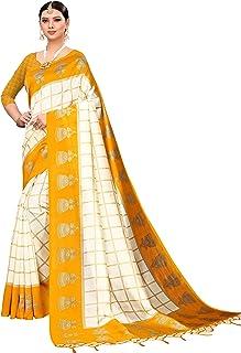 08dbabc144 Indira Designer Silk Saree with Blouse Piece JHUMKA-YELLOW_Yellow_Free Size