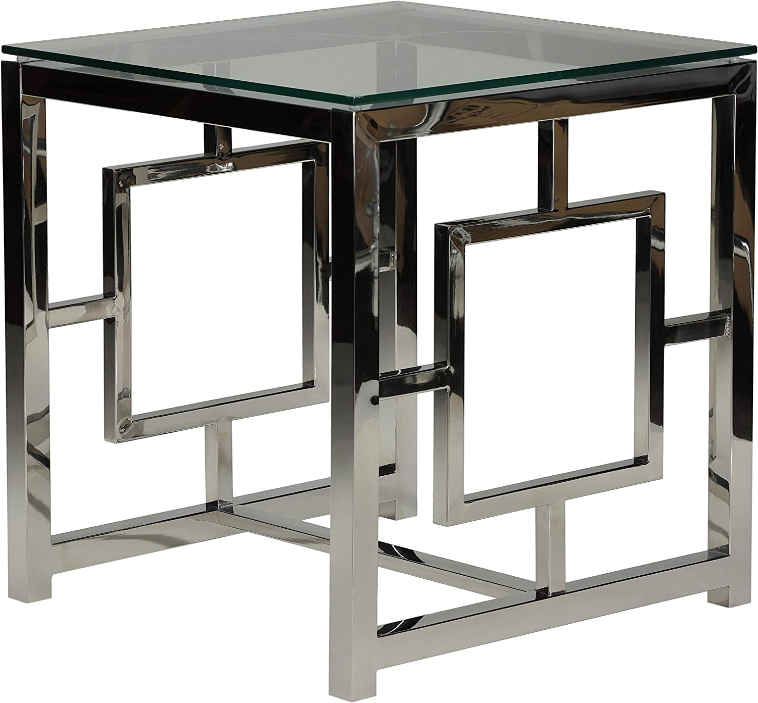 Cortesi Home Kamdyn Square Contemporary End Table