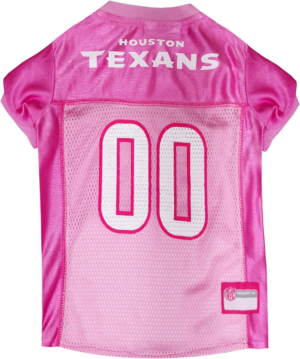Pets First NFL Houston Texans Jersey, X-Small, Pink