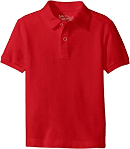 Short Sleeve Pique Polo (Little Kids)