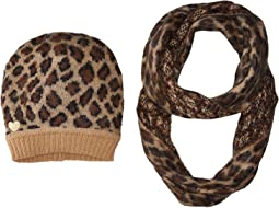 Betsey Johnson - Wild Side Two-Piece Set Hat and Infinity