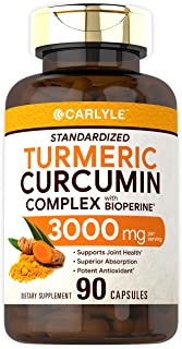 Sponsored Ad - Turmeric Curcumin with Bioperine | 3000 mg | 90 Powder Capsules | Joint Support Complex with Black Pepper |...