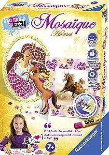 Ravensburger - Mini coffret Mosaïque - Thème Cheval - 2 modèles - Loisir créatif - Kit d'activités enfants à partir de 7 a...