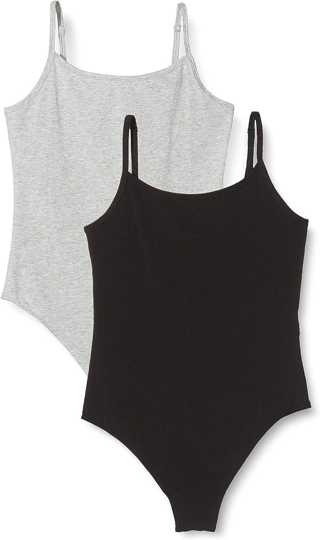 Brand Pack of 2 Iris /& Lilly Womens Cotton Bodysuit
