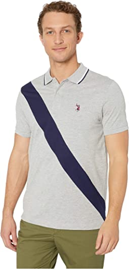 Slim Color Block Jersey Polo
