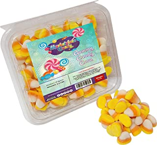 Vidal Gummy Candy Corn 2.2 POUNDS - In a Resealable Container -Holiday FALL Gummi Candy