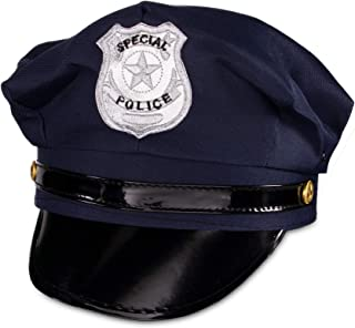 Adult Size Navy Blue Police Hat Dress Up Costume Accessory