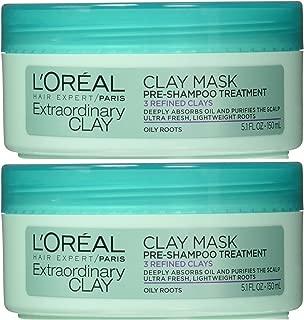L'Oréal Paris Hair Expert Extraordinary Clay Pre-Shampoo Mask, 5.1 Fluid Ounce (Pack of 2)