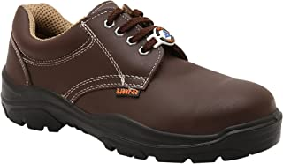 ACME Sodium Genuine Leather Brown Safety Shoes for Men (6)