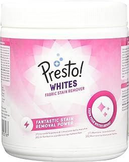 Marca Amazon - Presto! Quitamanchas en polvo para ropa blanca, 80 lavados (2 Packs de 40 lavados)